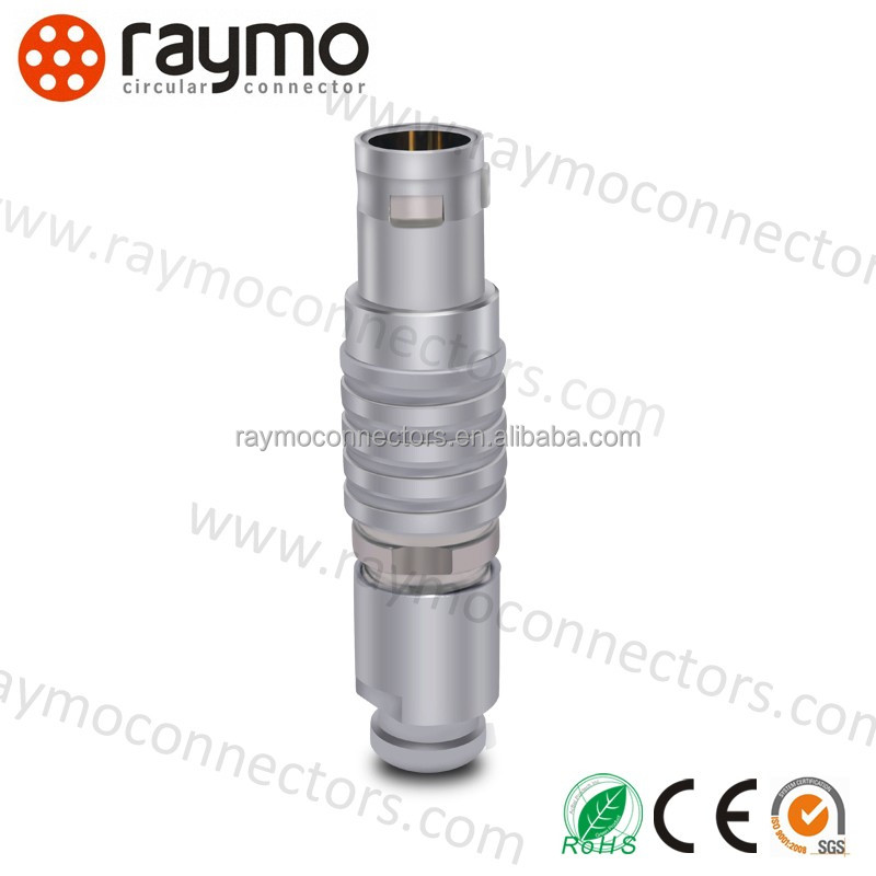 Raymo 45 degree FGJ 1B 306 metal circular electrical power red connector