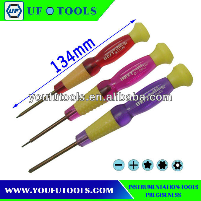 Tri-wing screwdriver for NDS/DS Lite/Wii,mobile phone repair screwdrivers T4/T5/T6/PH00/PH000/TS1,UF8308 Mobile Phone Repair