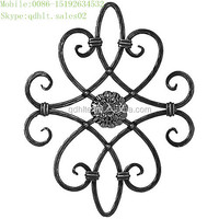 wrought iron rosettes and panels,ornamental cast iron panel,wrought iron decoration
