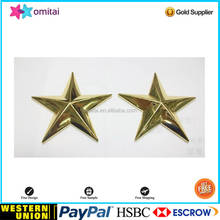 Top Qualtiy fat silver five star metal paperweight with gold color