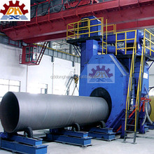 HOT oil and gas steel pipe outer surface descaling shotblasting energy saving cleaning machine CE, ISO9001