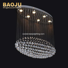Modern Household Crystal Chandelier Pendant lamps Fixture LED Ceiling Mounted remote controller Hanging Lamp
