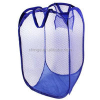 Home Dark Blue Meshy Basket Clothing Underwear Folded Basket Bag Container