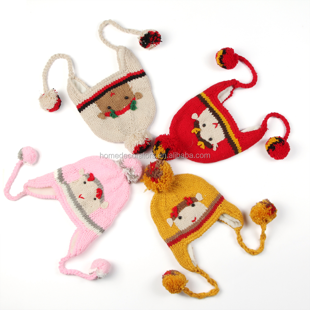 2014 cute latest baby rabbit crochet hat with diaper set