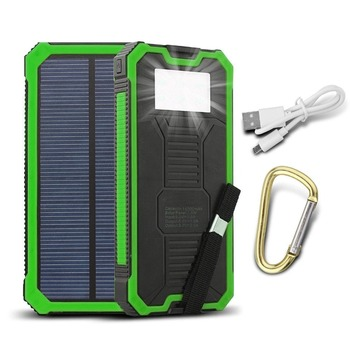 Real Capacity 8000mah Solar Power Bank Portable Solar Charger For Digital Devices