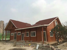 popular china prefab homes wooden house 2 floors villa log house kits cheap price