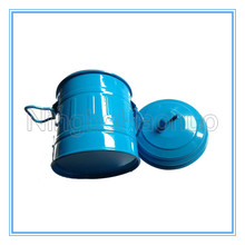 Small Painted Plain Color Metal Storage Bucket