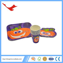 006 perfect design customized colorful paper tableware set for halloween