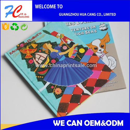 High quality printed cardboard kids hardcover books / customized design children books