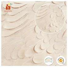 Hot selling product embroidery design beige dyed swiss cotton voile fabric for making clothes