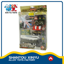 Military play set 1:64 diecast fighter airplanes model alloy toy army trucks for online sale