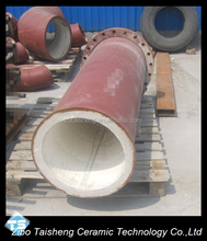 High Alumina Ceramic Lined Steel Pipe For Cement Plant / Zibo Manufacturer