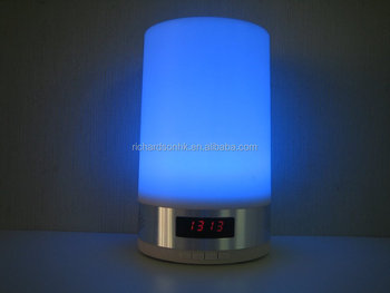 LED Night Light Table Lamp with Bluetooth Speaker function and alarm clock