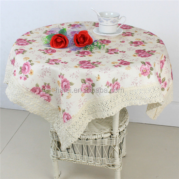 fabric painting designs on table cloth for wedding