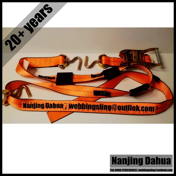 Since 1993 10 ft Big Orange Auto Tie Down Strap to Fit Small Hole Decks