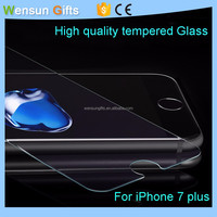 Wholesale 9H Hardness Anti-Scratch Tempered Glass For iPhone 7 Plus Screen Protector free shipping