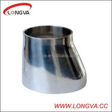 Stainless steel eccentric welded pipe fitting reducer
