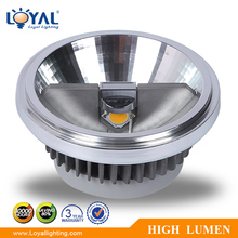 High power 10degree bridgelux cob 15w g53 gu10 led ar111 fixture