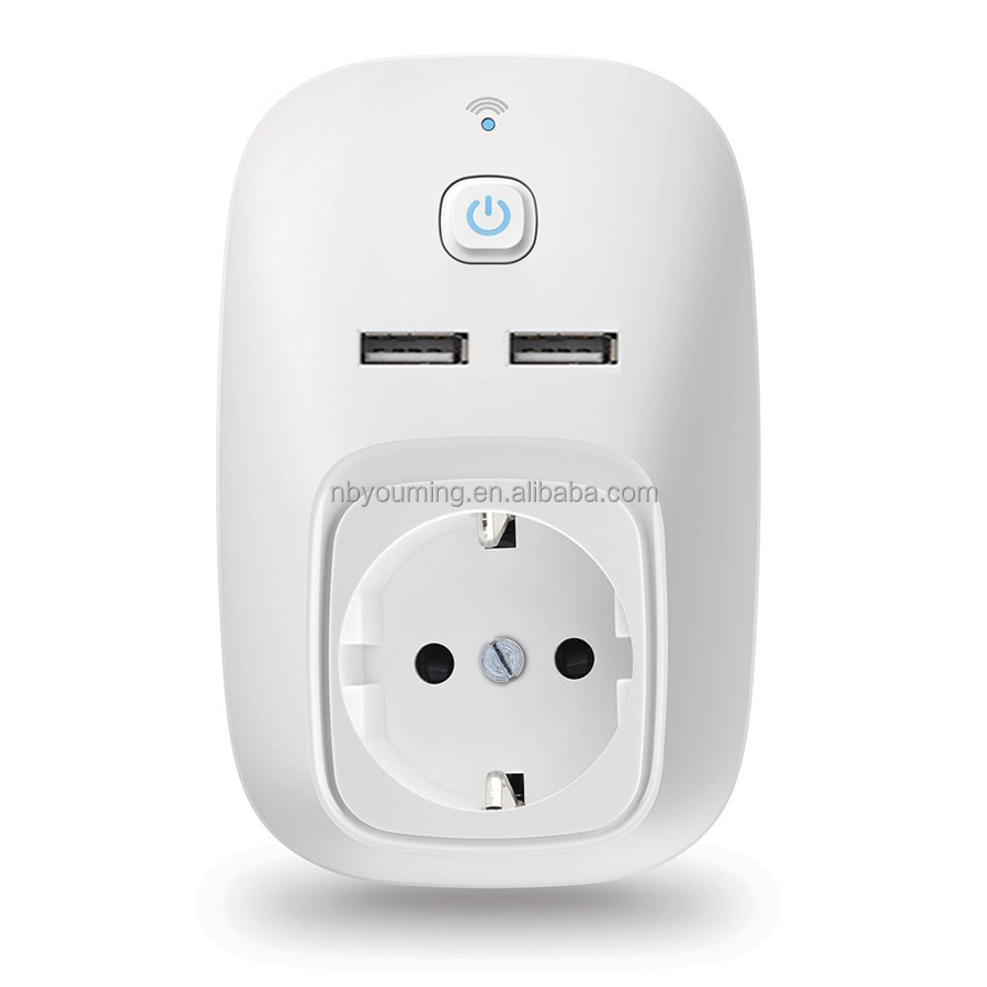 EU. Portable Smart Electric USB Socket
