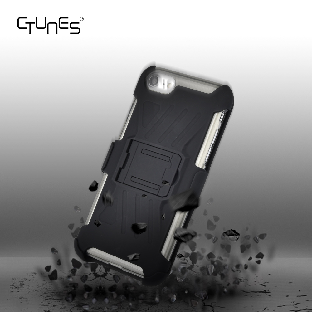 C&T 3in1 Hybrid Shockproof Drop Resistance Protective Armor Holster Belt Clip Case for Iphone 7 Plus