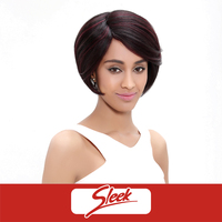 Sleek Factory Cheap Price Indian Natural Short Straight Machine Made Sew in 100% Virgin Remy Human Hair Wigs