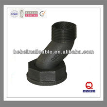 hex black malleable iron pipe fitting natural gas pipe line fitting