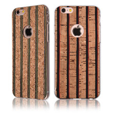 C&T Wood Texture Design Flexible Soft Slim Rubber TPU Case for iPhone 6S Plus