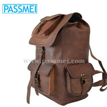 genuine leather Trekking rucksacks, leather rucksacks for teen