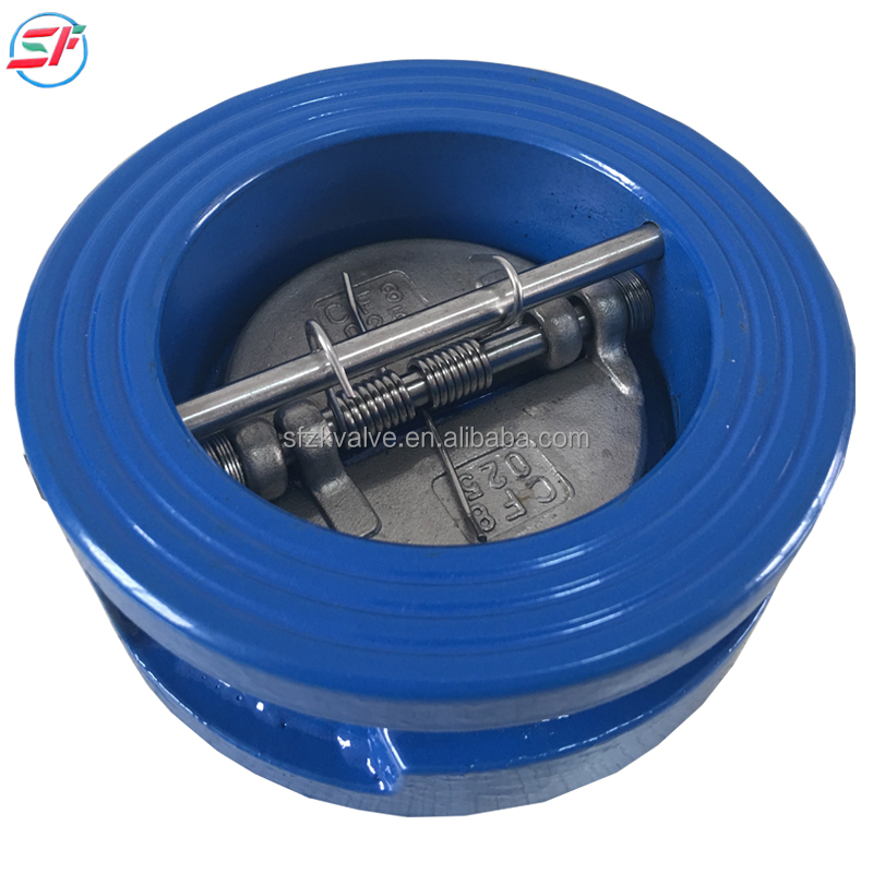high quality ductile iron body wafer dual butterfly ss304 disc check valve