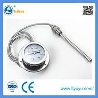 New design filled system pressure type guage thermometer CE/ISO/ROHS made in China