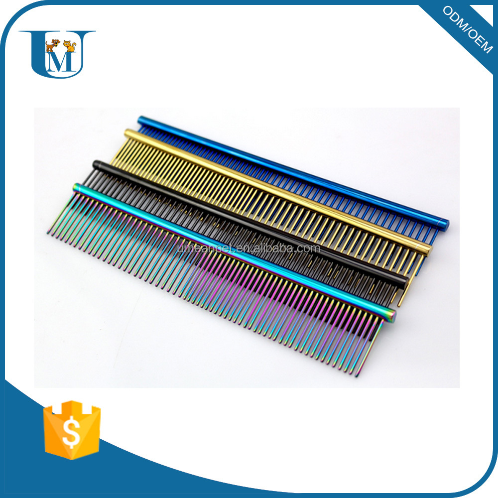 2016 new metal pet comb dog grooming comb