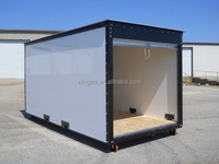 Flat pack portable storage container/self storage