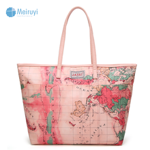 Guangzhou China polyester 210d lining tote bag cheap imported beach handbags for girls