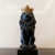Resin royal crown small black and white lion statue