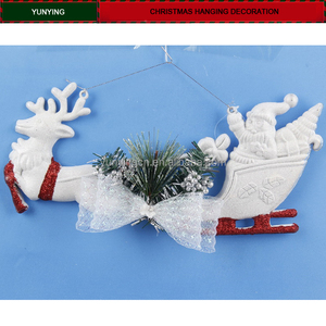 2018 christmas plastic deer sleigh white snow decoration mixed small wholesale stocks