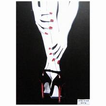 Modern black design nude sexy girl legs wall art canvas printing picture