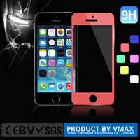 Top Brand 9H Explosion-proof Shatter proof Anti Clear Custom Smartphone color tempered glass screen protector for iphone 5 5c 5s