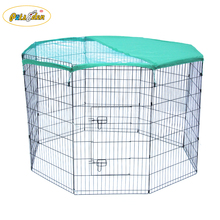 Hot sale expandable wire dog playpen puppy cat exercise fence cage with cover