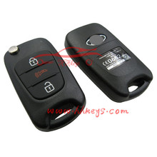 3 button replacement car remote key shell for kias cerato key