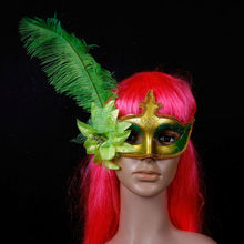 Best selling Flower feathers masks