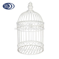 Newest 20*20*36CM white Iron wire mesh wedding decorative bird cage for gifts