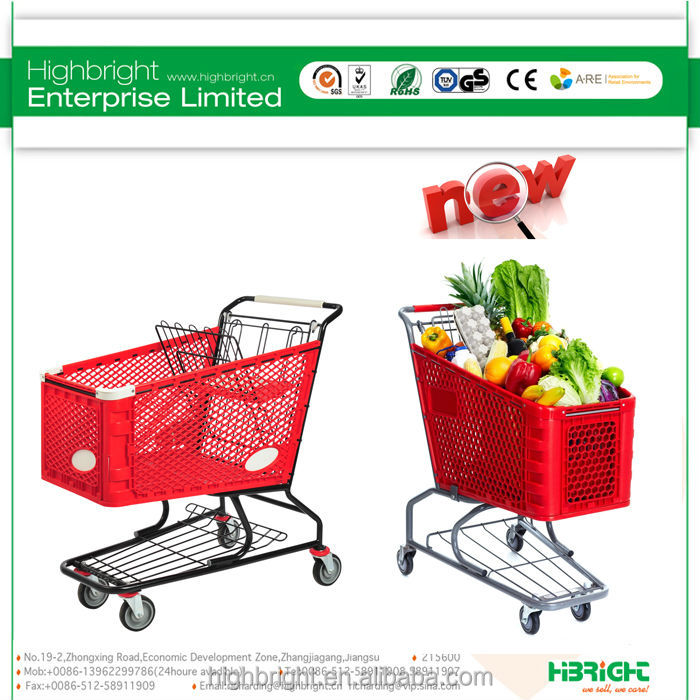 super market plastic shopping trolley