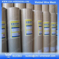 Suobo 2X4 Welded Wire Fence Green Vinyl Coated Welded Wire Mesh Fence Welded Wire Mesh Size Chart