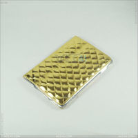 New design Golden Color diamond pattern Stand PU Leather Case for iPad mini