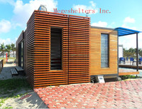 living container house prefab beach house