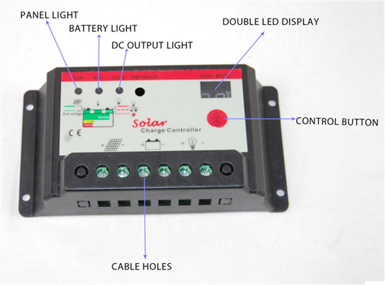 The Best 10A CE ROHS PWM Solar Panel Charge Controller in China Manufacturers