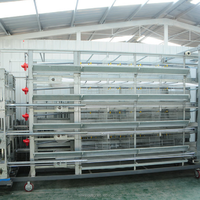 Poultry farming galvanized welded wire mesh chicken cage
