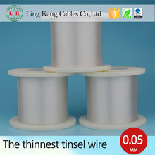 Competitive price 0.05mm silver plated copper wire, copper foil wire for robot wires