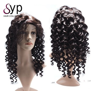 Amazon Top Seller 2018 Mongolian Kinky Curly Eurasian Human Hair Full Lace Wig