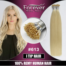 Forever high quality 100 real remy eurasian human i-tip hair extension